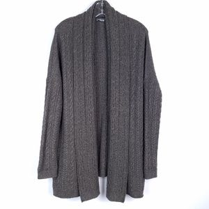 VINCE Open Cardigan Sweater Yak & Wool Cable Knit